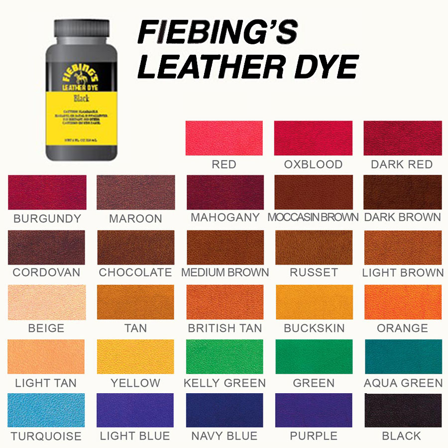 Fiebings Leather Dye Colors 28 Images Fiebing S